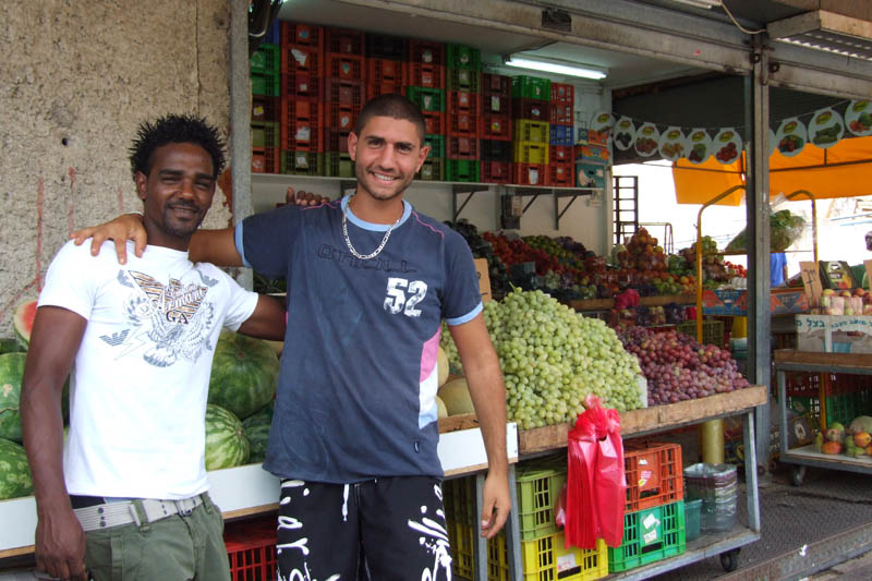 Salutari din piata din Ashdod