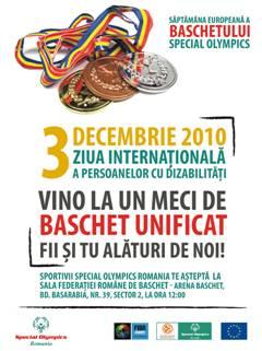 Săptămâna Europeană a baschetului Special Olympics