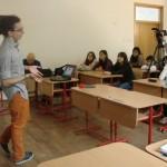 O mică prezentare în liceul Mihai Viteazu