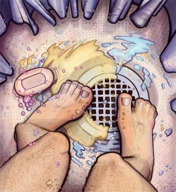 Ce-i atât de greşit în a face pipi în duş?!