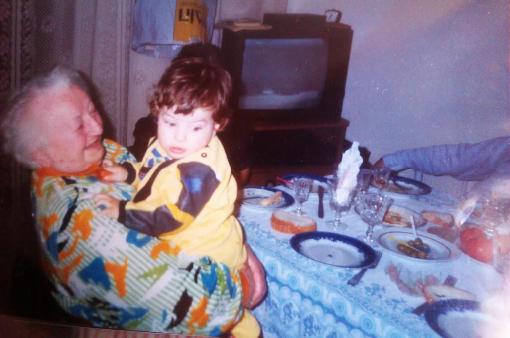 Eu și mamaie Clara.