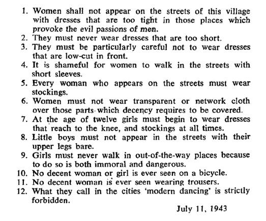 Acum 70 de ani era strigător la cer să fii femeie şi să nu porţi fustă.