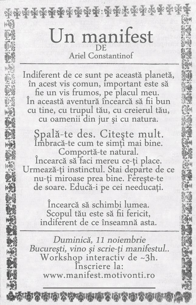 Manifest - 11 noiembrie, Bucureşti