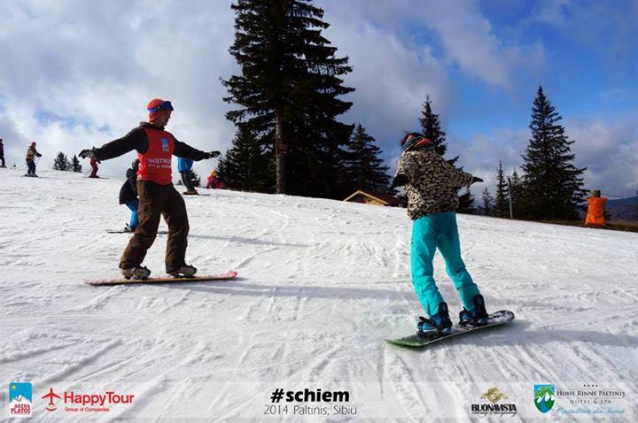 Cum înveți să te dai cu snowboardul? Îți rupi curul.