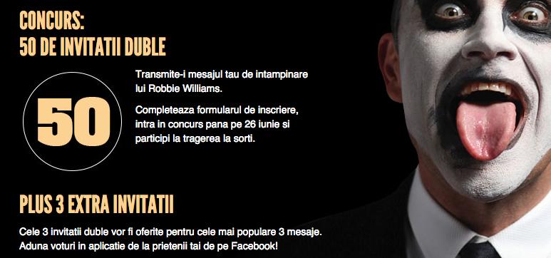 53 de bilete duble la concertul lui Robbie Williams de pe 17 iulie