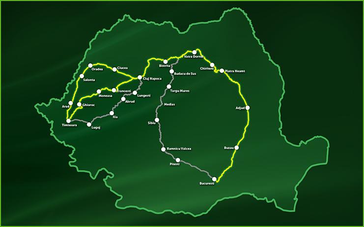 O lămâie cât toată România desenată prin GPS