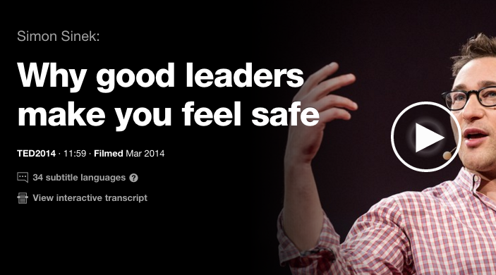 Un TED talk superb despre leadership